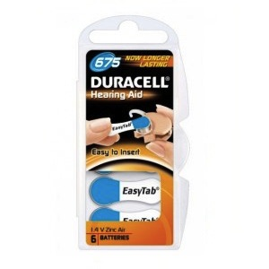 6 DURACELL 675 - PR44 hearing aid batteries