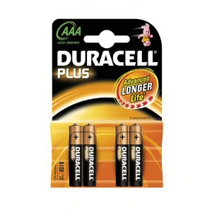 4-DURACELL-MN2400-AAA batteries